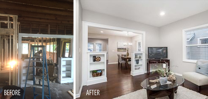 Guilford Ave-Indianapolis-Before And After Interior