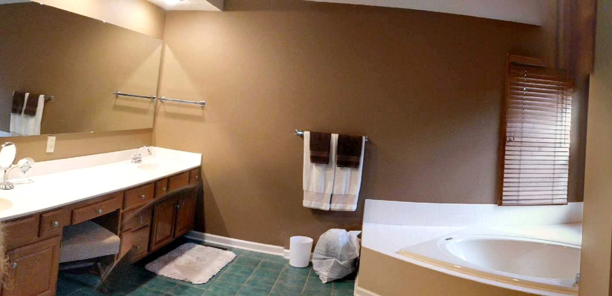 BEFORE: Fishers Indiana master bath remodel