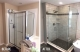 Bathroom Remodel - custom tile work and frameless glass doors replace the  builders grade fiberglass inserts