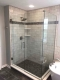 Bathroom Remodel - custom tile with frameless glass doors